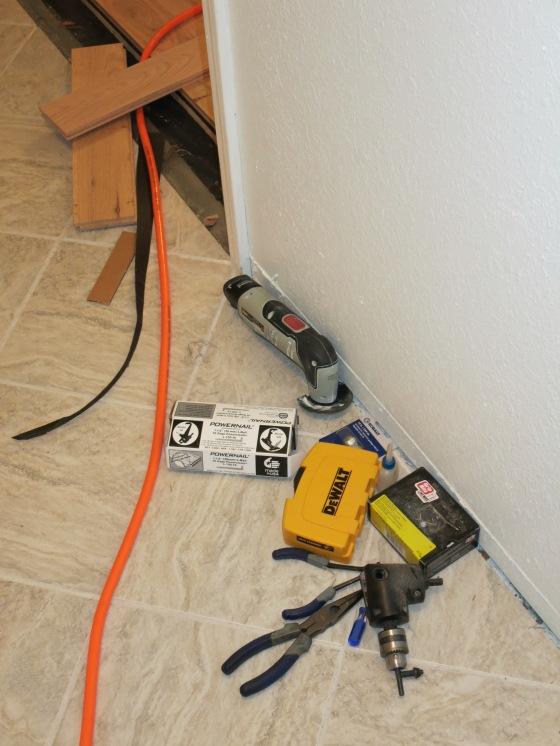 hallway full of tools